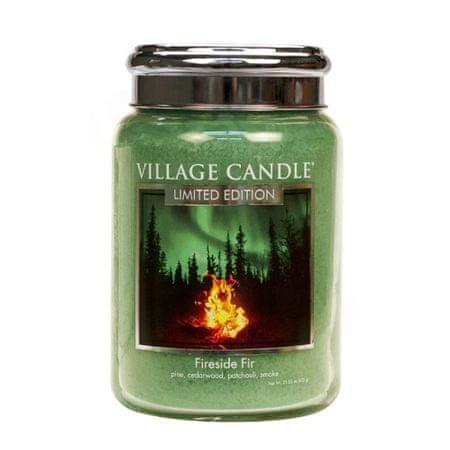 Village Candle Vonná sviečka v skle Táborák z jedlí (Fireside Fir) 602 g