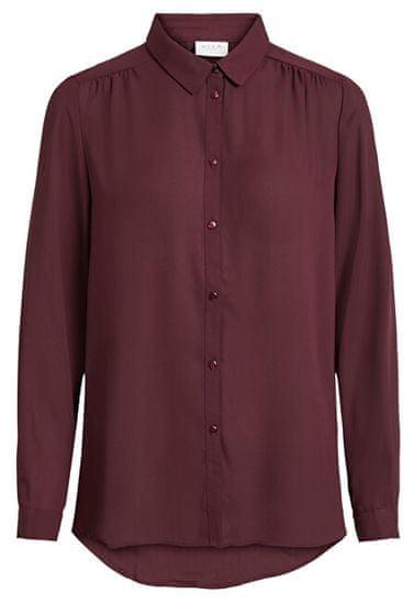 VILA Dámska košeľa VILUCY L / S BUTTON SHIRT - Noosa Wine tasting (Veľkosť XS)