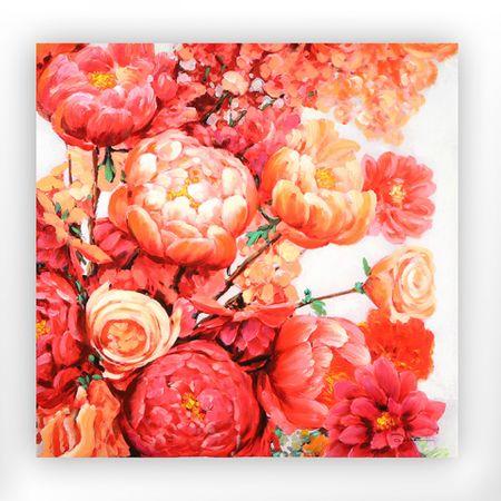 Papillon Obraz Pivoňky, 90 cm, akryl na plátně