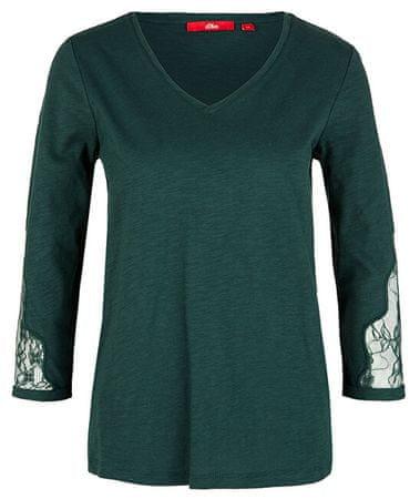 s.Oliver Női póló 14.908.39.2699.7897 Emerald ( 38)