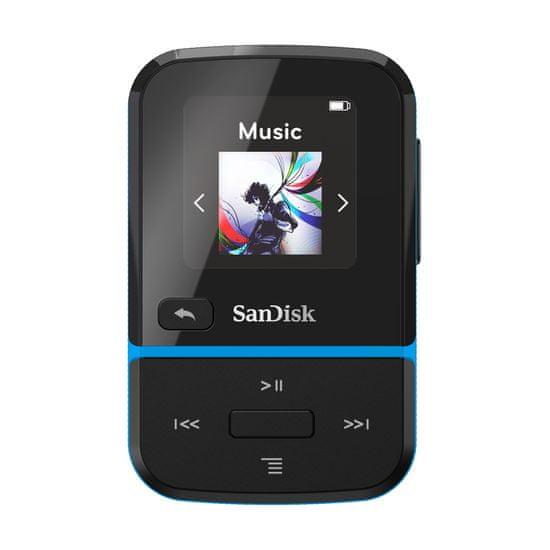 SanDisk MP3 Clip Sport GO 16 GB, modrá