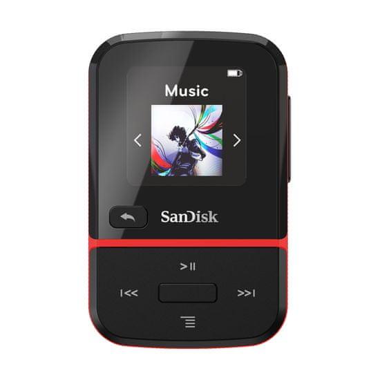 SanDisk MP3 Clip Sport GO 16 GB, červená