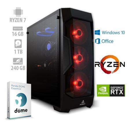 mimovrste=) Beast 2 Pro namizni računalnik (ATPII-PF7G-7784) + 1 leto Office 365 Personal