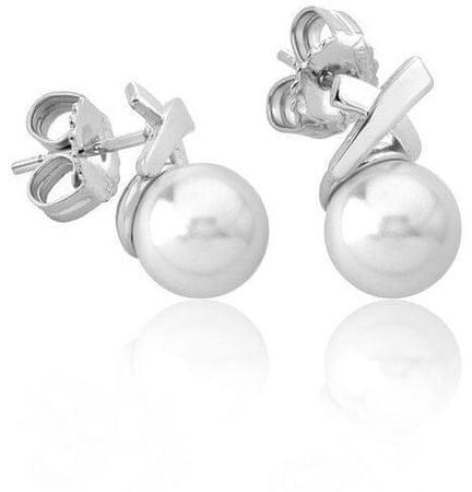 Ezüst fülbevalók valódi gyöngyökkel 15299.01.2.000.010.1 ezüst 925/1000