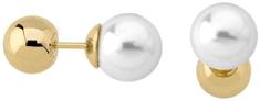 Majorica Dvojité oceľové náušnice s pravou perlou 15111.01.0.000.010.1