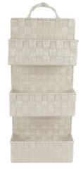 DUE ESSE Závesný 3 dielny nylonový organizér biely