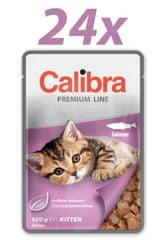 Calibra Kitten, mokra hrana za mačke, losos, 24 x 100 g