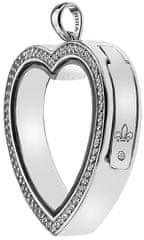 Hot Diamonds elementy do zawieszania Anais serca z kryształów diamentowych i EX011 srebro 925/1000