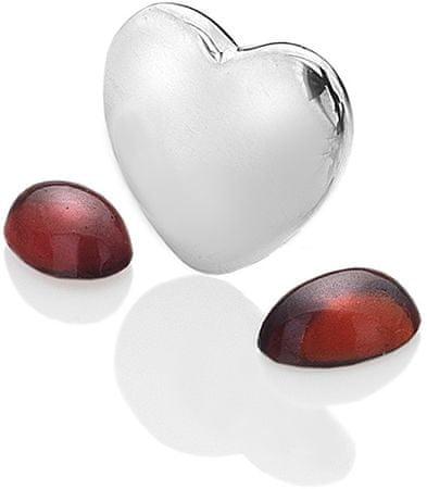 Hot Diamonds Element srdce s granáty Anais Leden EX120 stříbro 925/1000