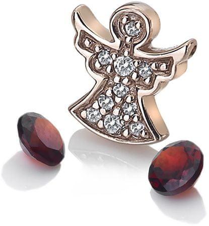 Hot Diamonds Bronzový element andělíček s granáty Anais AC105 stříbro 925/1000