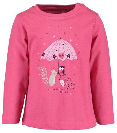 Blue Seven dívčí tričko 80 růžová
