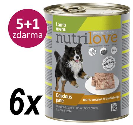 Nutrilove mokra karma dla psa z jagnięciną 6 x 800g