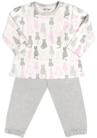Nini dívčí pyžamo 86 šedá