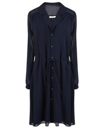NAFNAF Kalia ženska obleka LHNR41D, 36, temno modra
