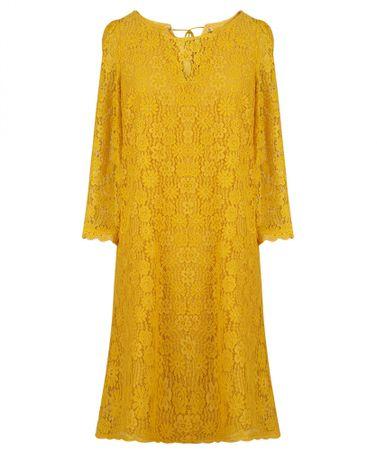 NAFNAF dámské šaty Lapray LHNR23D 36 žlutá