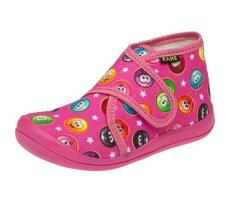 Fare dívčí papuče na suchý zip 4113447