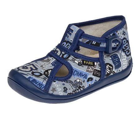 Fare chlapecké papuče na přezku 4114409 23 tmavě modrá