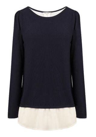 NAFNAF Mrayure ženski pulover LHNU35, S, temno moder