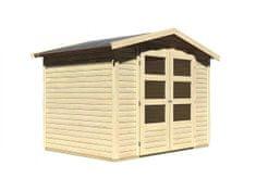 KARIBU drevěný domček KARIBU AMBERG 3 (82972) natur
