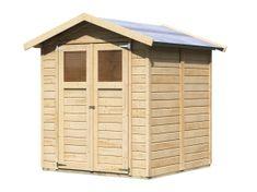 KARIBU drevený domček KARIBU DAHME 3 (42562) natur