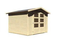 KARIBU drevený domček KARIBU AMBERG 4 (82973) natur