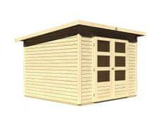 KARIBU drevený domček KARIBU STOCKACH 4 (82980) natur