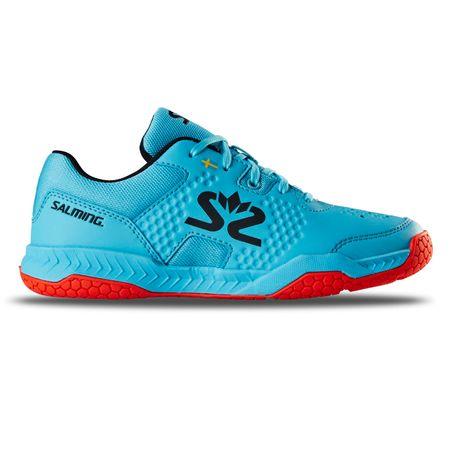 Salming Hawk Court Shoe Junior Blue/Red 40