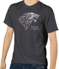 Game of Thrones Pánské tričko Hra o trůny - Stark šedé Velikost: S