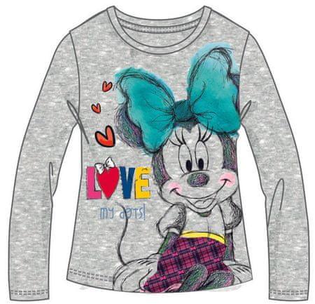 Disney by Arnetta dívčí tričko Minnie 122 šedá