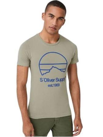 s.Oliver pánské tričko 13.908.32.7653 M zelená