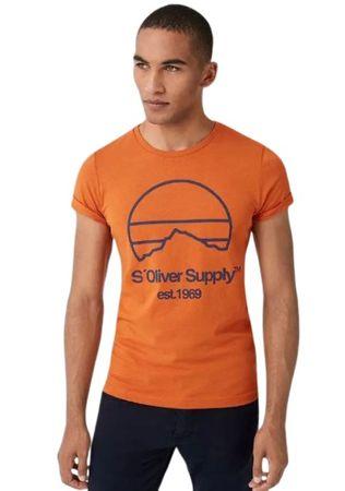 s.Oliver koszulka męska 13.908.32.7653 M pomarańczowa