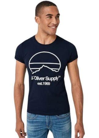 s.Oliver pánské tričko 13.908.32.7653 M tmavě modrá