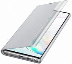 Samsung flip maskica s Clear View za Galaxy Note 10, srebrna (EF-ZN970CSEGWW)