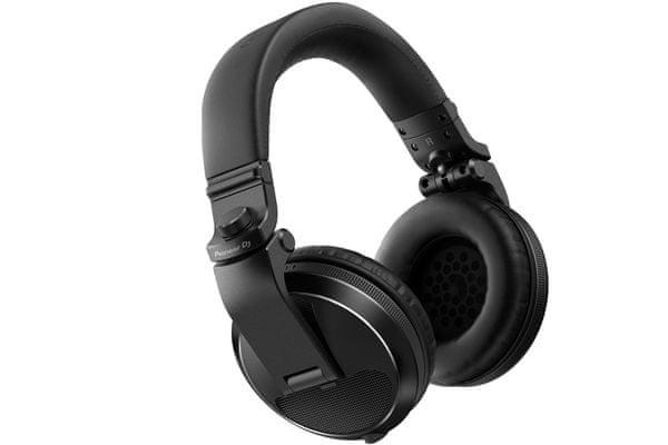 vezetékes profi dj stúdió fejhallgató pioneer hdj-x5 1,2m kábel 3,5 mm jack adapter 6,3 mm torzítás mentes
