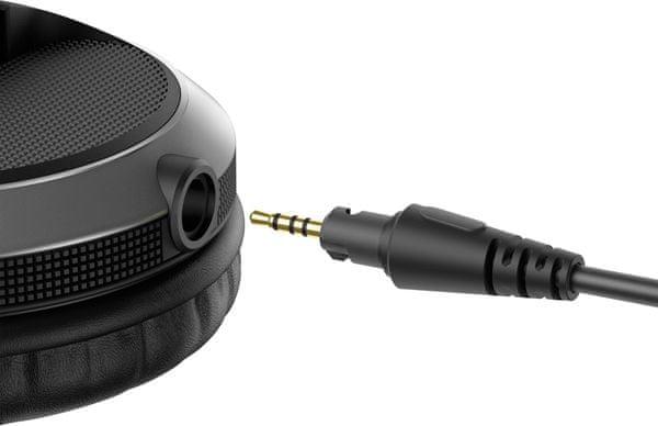 vezetékes profi dj stúdió fejhallgató pioneer hdj-x5 1,2m kábel 3,5 mm jack adapter 6,3 mm