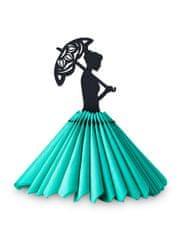 EWA ECO-WOOD-ART Panenka na ubrousky s deštníkem