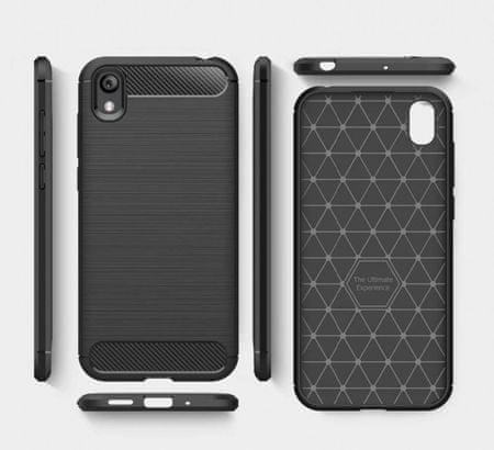 ovitek za Huawei Y5 2019 / Honor 8s, mat carbon črn