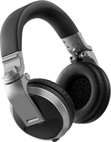 Pioneer HDJ-X5 sluchátka, stříbrná