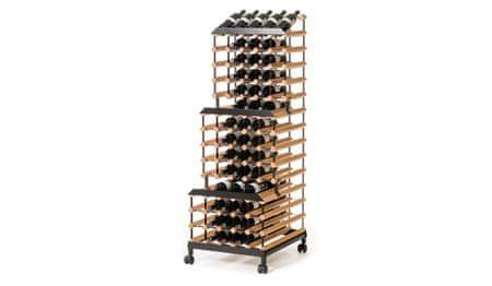 RAXI Pojízdný stojan na víno s kapacitou 90 lahví