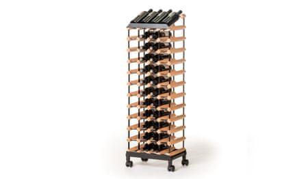 RAXI Pojízdný stojan na víno s kapacitou 48 lahví