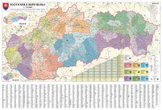 Slovensko - nástěnná administrativní mapa 135 x 90 cm
