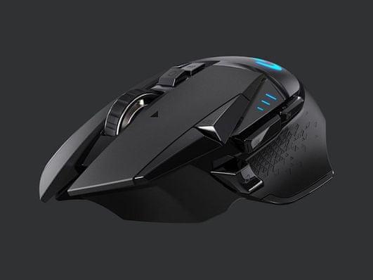 Herní myš Logitech G502 Lightspeed kabelová 16 000 DPI rychlé nabíjení