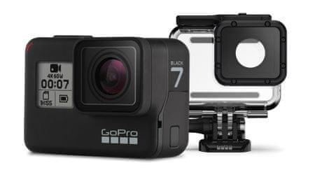 GoPro Hero 7 športna kamera, črna + Super Suit zaščita