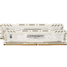 Crucial Ballistix Sport LT memorija (RAM), DDR4, 16GB (2x8GB), PC4-25600/3200MHz, CL16 SR x8, bel (BLS2K8G4D32AESCK)