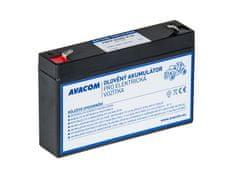 Avacom Náhradné batérie (olovený akumulátor) 6V 7Ah do vozidlá Peg Perego F1