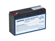 Avacom Náhradné batérie (olovený akumulátor) 6V 12Ah do vozidlá Peg Perego F1