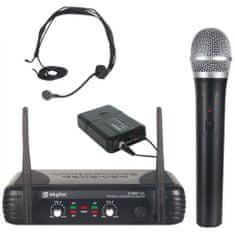Skytec Skytec VHF mikrofonní set 2 kanálový, 1x ruční mikrofon, 1x náhlavní mikrofon