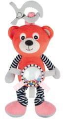 Canpol babies pluszowa wibrująca zabawka z grzechotką Niedźwiadek koralowy