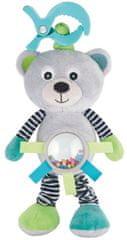 Canpol babies pluszowa wibrująca zabawka z grzechotką Niedźwiadek szary