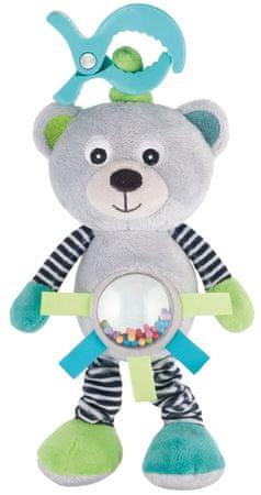 Canpol babies Plyšová vibrující hračka s chrastítkem medvídci šedý
